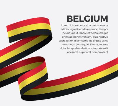 Belgium flag for decorative.Vector background