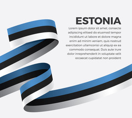 Estonia flag for decorative.Vector background