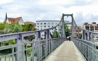 Brückenverlauf Innsteg Passau