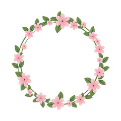 cute flower with leafs crown