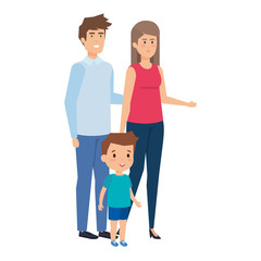 parents couple with son characters