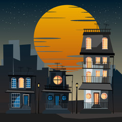 building in city vector illustration
