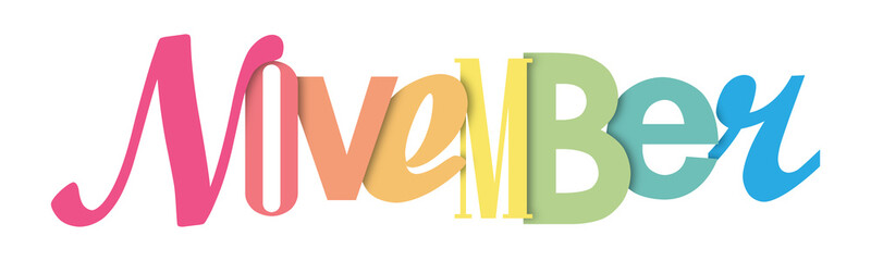 NOVEMBER colorful typographic banner