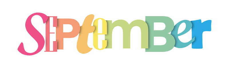 MONTH colorful typographic banner