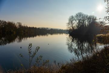 Paysage sur le fleuve de la Moselle