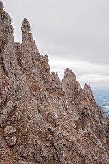 Panoramic view of the Southern Mount Grigna with its dolomite towers and limestone rock formations