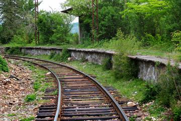 Abandoned railway platform near Kutaisi, Georgia
