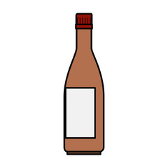beer bottle isolated icon