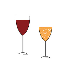 Glasses of alcohol a vector image