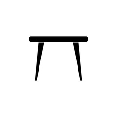Table icon in flat style isolated on whiteground. For your design, logo. Vector illustration.