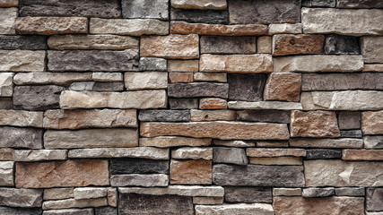 natural stone brick wall texture background Fototapete