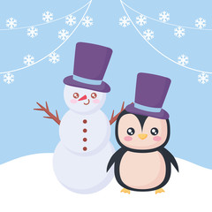 cartoon snowman design