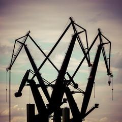Industrial cranes in Gdansk shipyards