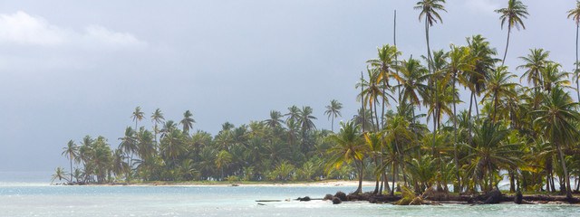 Beautiful paradise island, San Blas