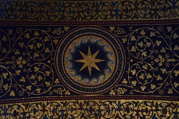 interior decoration of the ceiling of a church in London, United Kingdom