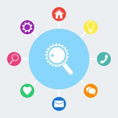 Search vector icon.