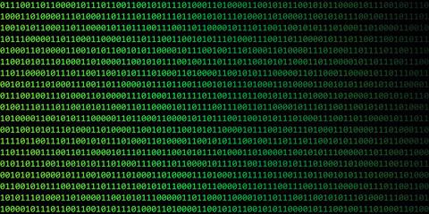 digital binary code web technology background green and black vector illustration EPS10