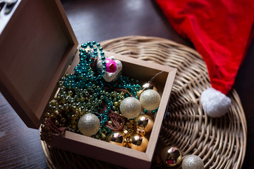 New year and Christmas concept still life photo