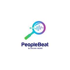 Community logo template designs concepts vector illustration, People Beat logo concepts