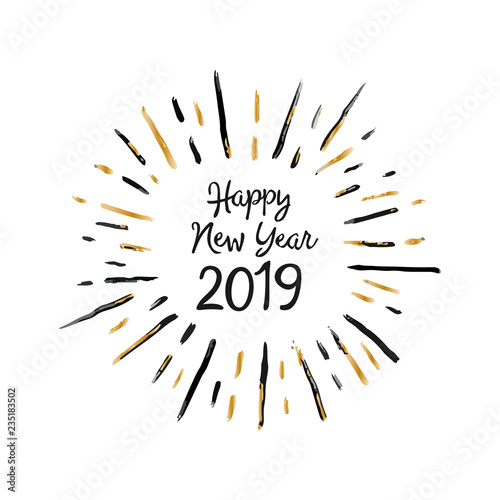 Handmade Style Christmas Greeting Card Happy New Year 2019 For