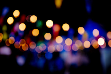 Abstract Colorful background blurred bokeh in the festival