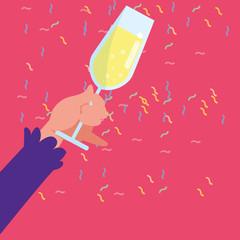 Champagne glass design