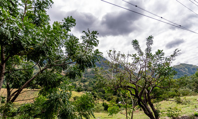 view of mountains and field in Guatemala