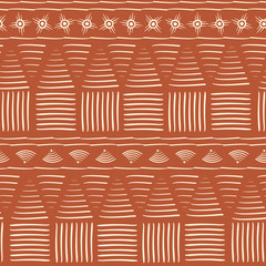 Abstract houses tribal pattern