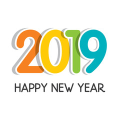 new year 2019 greeting design