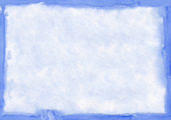 Rectangular regularly shaped dark blue watercolour background. Beautiful abstract canvas for congratulations, valentines designs, invitation cards,  engagements, postcards, text and etc.