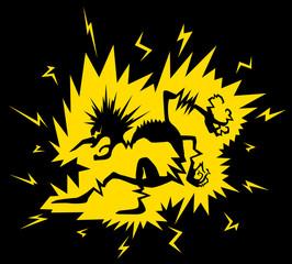 Electric Shock Figure Cartoon
