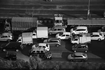 Traffic monochromatic image