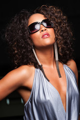 Young African-American Woman in Sunglasses