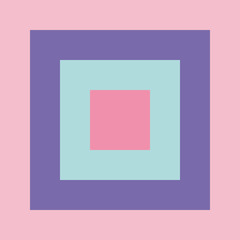 Colorful Squares Vector Set in Pink