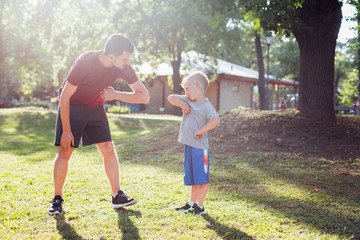 Father and son fitness