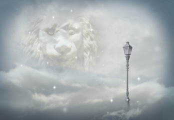 aslan and lamp in narnia