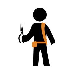 electrical technician silhouette avatar