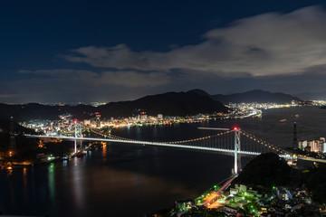 [山口県]関門海峡の夜景