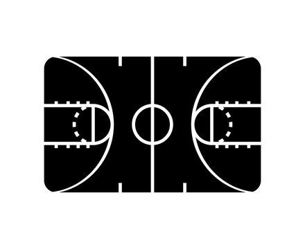 basketball court sport icon