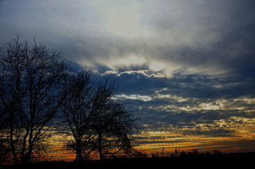 Jesienne Magiczne Niebo
