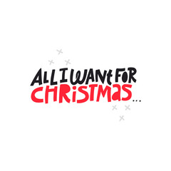 Christmas hand drawn vector lettering