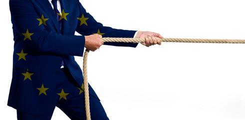 Seilziehen- Machtkampf Europäische Union