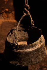 old bucket of water