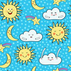 Good night baby repeat pattern