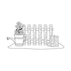 gardener shower sprinkler with flowers