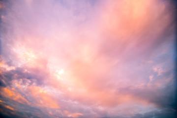 Sunset twilight landscape background.