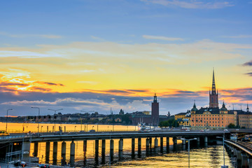 Wall Mural - View of Stockholm city, Sweden.