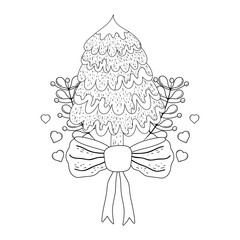 merry christmas tree icon