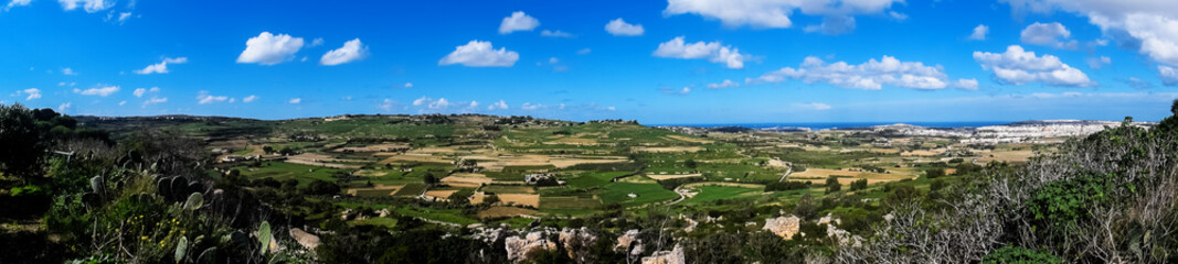 Printed roller blinds Gray traffic Panoramic view of the Environment in Malta