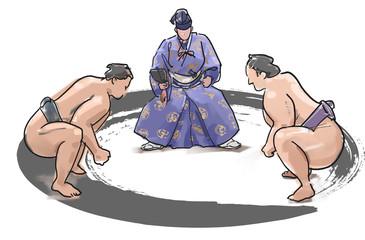 相撲-立ち合い